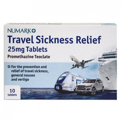 Numark Travel Sickness Relief 10 Tablets