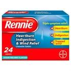 Rennie Triple Symptom Relief 24 Tablets
